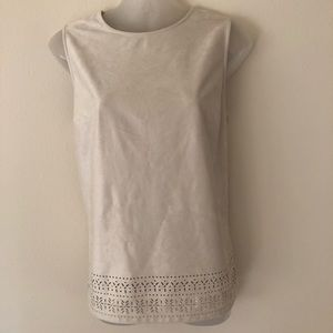 Lila Rose Faux Suede Sleeveless Top sz Med